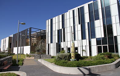 Exterior view of the State rehabilitation service building at Fiona Stanley Hospital