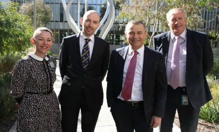 From left, FSH Acting Executive Director Janet Zagari, FSH Head of Urology Prof Dickon Hayne, Health Minister Roger Cook, South Metropolitan Health Service Acting Chief Executive Paul Forden
